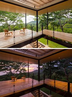This Tropical House Is Almost Completely Open To The Outside Hotel Architecture, Amazing Architecture, Architecture Design, Modern Tropical House, Tropical Houses, Thai House, Living Place, Sims House, House Front