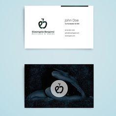 Cartão de visitas com fundo personalizado #surpreenda #nutricao #euamonutricao #cartaodevisita #logos #design #designgrafico #euamodesign