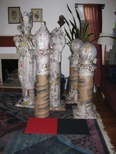 paper mache chess pieces