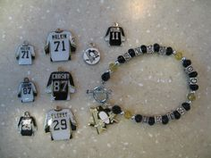 Pittsburgh Penguins charm bracelet.