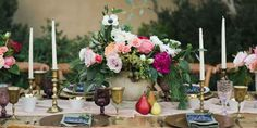 All eyes will be on these gorgeous arrangements that perfectly mirror the bounties of the season.