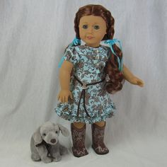 ~ SWEET & SASSY ~ Western Dress & Boots for AG's Saige or Nikki by idreamofjeannemarie, SOLD via eBay auction 5/12/15 $59.00