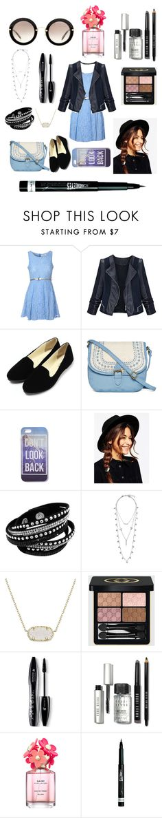 """come on spring"" by glamorkitty on Polyvore featuring Glamorous, T-shirt & Jeans, ASOS, Lucky Brand, Kendra Scott, Gucci, Lancôme, Bobbi Brown Cosmetics, Marc Jacobs and Rimmel"