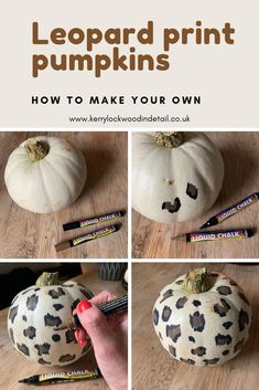 Make your own leopard print pumpkin