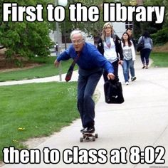 First to the Library