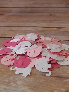 Elephant Confetti, Baby Shower Need a different color, Not a problem  I can do custom colors to match your party theme   Also check out the Elephant Food Picks / Mini Cupcake Toppers  www.PinkNParty.com