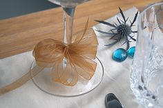 Small blue accents - thistles and marbles.