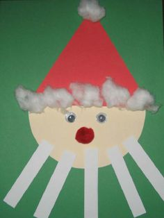 Santa Craft For Your Preschool Or Child Care