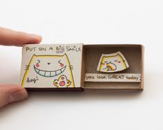 """Quirky & Cute Matchbox-Cards Help You Profess Your Love & Feelings Inspired by greeting cards, gift boxes and all things miniature, these tiny """"cards"""" are handmade from real matchboxes at the..."""