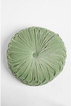 UrbanOutfitters.com > Round Velvet Pintuck Pillow