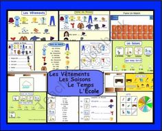 Smartboard Interactive: Les vêtements, lécole, les saisons, le temps  from Teaching The Smart Way on TeachersNotebook.com (15 pages)