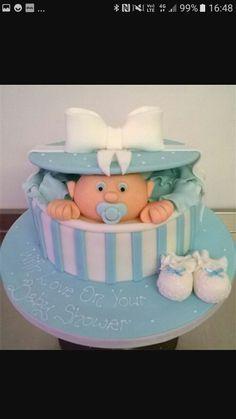 Risultati immagini per gift box baby shower cake
