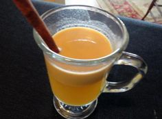 Caramel Apple Cider - an interesting variation from our usual spiced hot apple cider; we've never tried anything like this - sounds like it might be yummy!