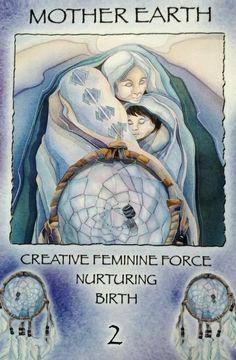 """2 Mother Earth"" Spirit of the Wheel Meditation Deck par Jody Bergsma"