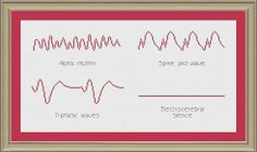 EEG waveforms: nerdy cross-stitch pattern on Etsy, $3.00