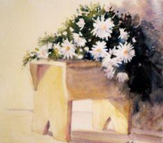 Daisy Stool [watercolour]