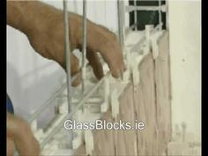 How to Build A Wall Using Glass Blocks - Method 1 - YouTube