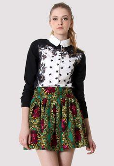 #Chicwish Baroque Star Print Shirt