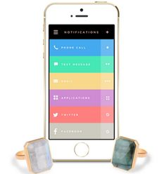 Ringly- #Fashionable, #WearableTech Lights up and Buzzes when your #Phone Needs you