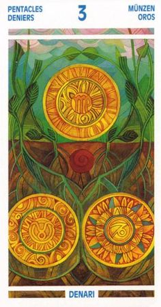 Crystal Tarot ► Three of Pentacles
