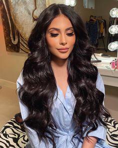 Hair Color For Black Hair, Love Hair, Dark Hair, Thick Hair, Quince Hairstyles, Wedding Hairstyles, Bridal Hairstyle, Bridal Hair And Makeup, Hair Makeup