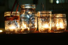 Mason Jars Now Let there be Light Wedding inspiration outdoor wedding inspiration wedding idea Light  wedding decor 2 inspiration