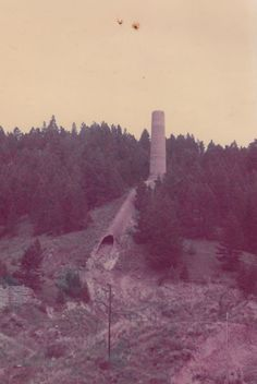 The Great Montana Anagama, visible from the road between Helena and Butte. Actually thought to be remains from a smelter or other industrial furnace. Wood Kiln, Pottery Kiln, Mud, Montana, Heaven, Around The Worlds, Country Roads, Industrial, Fire