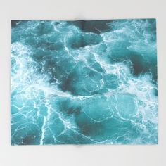 Electric Ocean throw blanket from Society 6