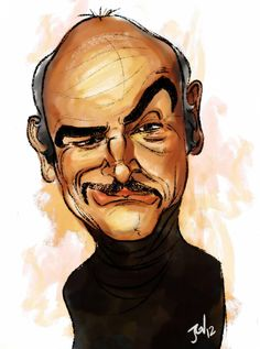 #Caricature: Sean Connery by gabrielvanz - http://dunway.com