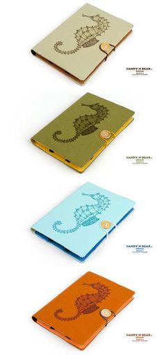 "Design Tablet cover - Seahorse ( Cotton yarn / Hardcover / 4 colors / Nexus 7 / Samsung Tab 7.0 / Kindle 6 "" / Kindle Fire 7 "" / Ipad mini ) on Etsy, $29.90"