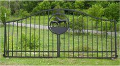 A simple double panel horse gate www.ornamentalgateworksetc.com