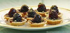 blackberry polenta tart with kaffir lime ginger glaze