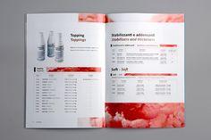 Catalogue for an italian ice cream industry