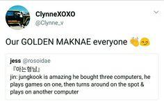 GOLDEN MAKNAE JEON JUNGKOOK #kookie #Jungkook @BTS_twt