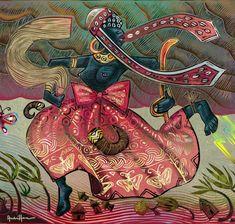 """DA SÉRIE PANTEÃO DAS DEUSAS - OIÁ - IANSÃ  Segundo Patricia P. Bernardo, """"Oiá é a orixá dos ventos e tempestades, e divide com o seu esposo Xango o poder sobre os raios e tempestades. Ela expressa em seu mito o aspecto ativo e guerreiro do feminino, sendo dinâmica, perspicaz, ousada e fraternal, trazendo mudanças sempre que necessário"""". Da página Tradições-Mitologia-Ícones-Holismo"""