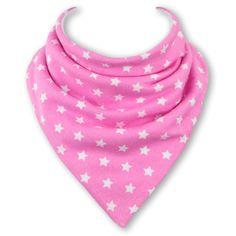 Bavoir bandana Babble Bib Rose étoiles Pink Stars