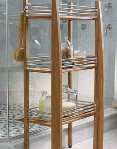 Our Three-tier Teak Shower Shelf is perfect for keeping your bathroom accessories organized and in close reach.
