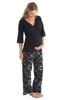 Belabumbum Reika Maternity Nursing Tunic And Pant Lounge Pajama Set | Maternity Clothes  www.duematernity.com