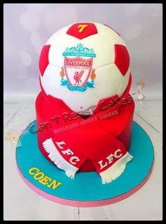 Discover recipes, home ideas, style inspiration and other ideas to try. Liverpool Cake, Liverpool Football Club, Ynwa Liverpool, Soccer Cake, Soccer Party, Football Birthday Cake, Birthday Cakes, Football Cakes, 9th Birthday