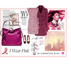"""""""October Is Breast Health Awareness Month"""" by belldraw ❤ liked on Polyvore"""