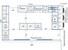 34 best kitchen dimensions images kitchen layout plans floors kitchen kitchen floors on t kitchen layout id=89779