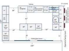 34 Best Kitchen Dimensions images   Kitchen layout plans