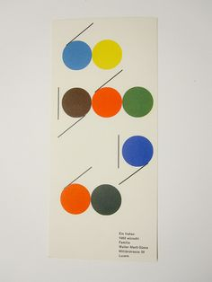 New Year card by Walter Marti, 1960