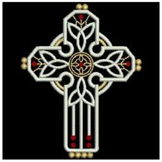 Crystal Cross 02 machine embroidery designs