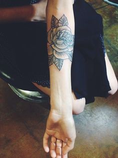 traditional rose arm piece, artist unknown