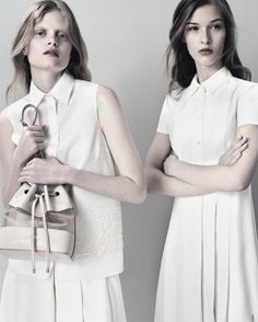 Nathalia Oliveira & Elena Bartels in the Jil Sander Navy S/S 2013 ad campaign shot by Josh Olins