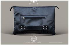Chivote BLK leather macbook case and bag #Chivote #leather #bag www.chivote.com