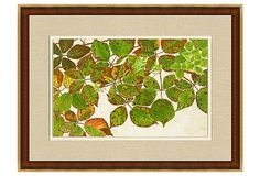 Wood and Gold Framed Foliage Print II on OneKingsLane.com