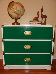 Going Green: Campaign Chest, Industrial Stools, Workbench The Thursday AFTERNOON Scavenger