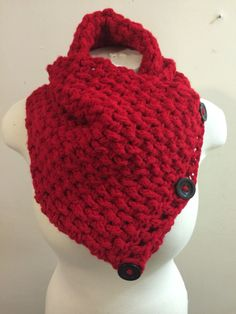 Red button cowl. 5 ways to wear it